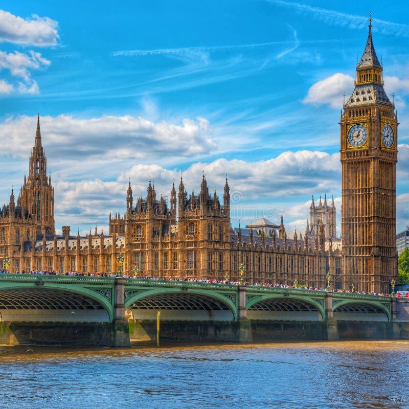 Big Ben & Londen van Westminster stock fotografie