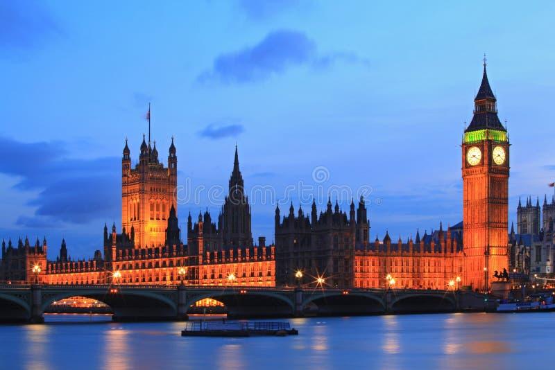 Big Ben London. Big Ben and House of Parliament at River Thames International Landmark of London England United Kingdom at Dusk royalty free stock images