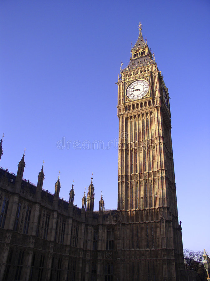 Download Big Ben, London stockfoto. Bild von vorwahlknopf, london - 35734