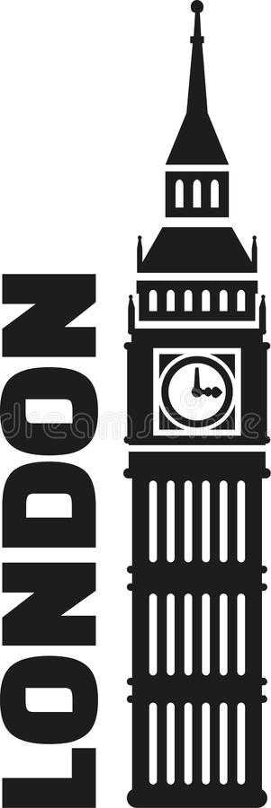 Big ben London. England vector vector illustration