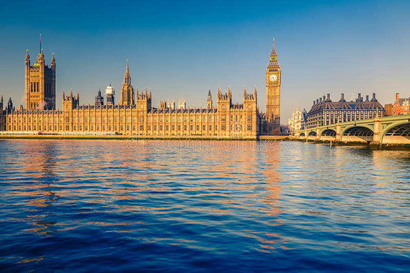 Download Big Ben in London stock image. Image of outdoors, river - 35858829