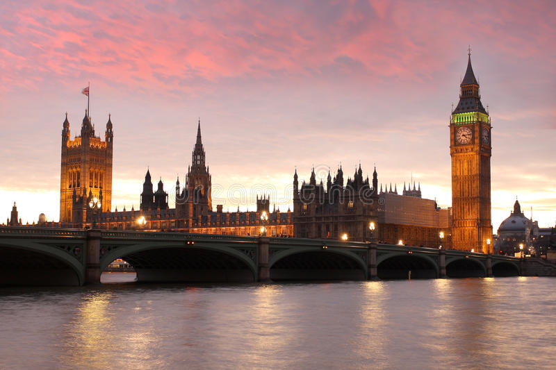 Big Ben, London, UK. Famous Big Ben in Westminster, London, UK royalty free stock photo