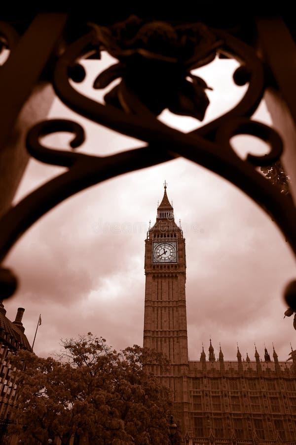 Big Ben in London, UK. Dramatic Big Ben in London, UK stock images