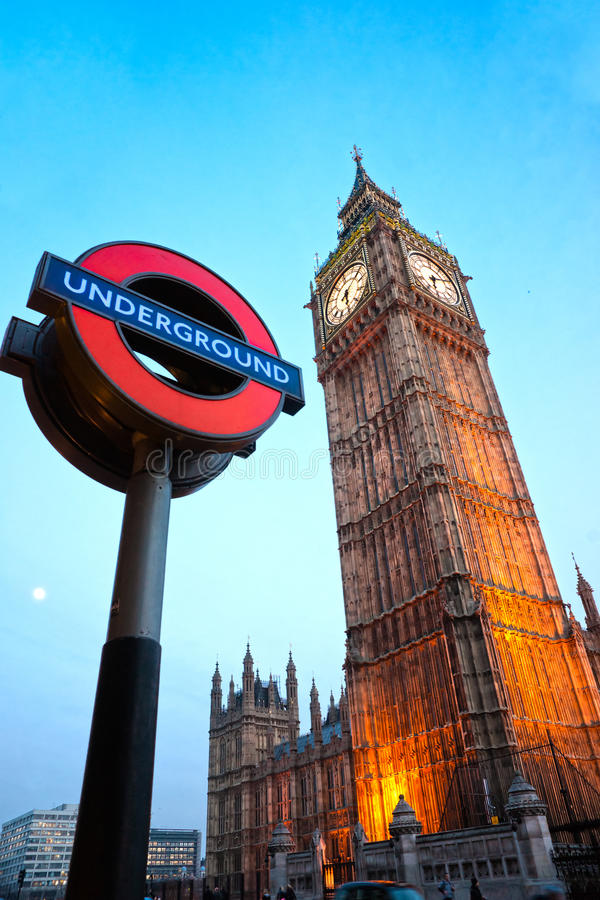 The Big Ben, London, UK. LONDON - MARCH 17: The Big Ben. The London 'Underground' logo will be used for other transportation systems - has been announced by