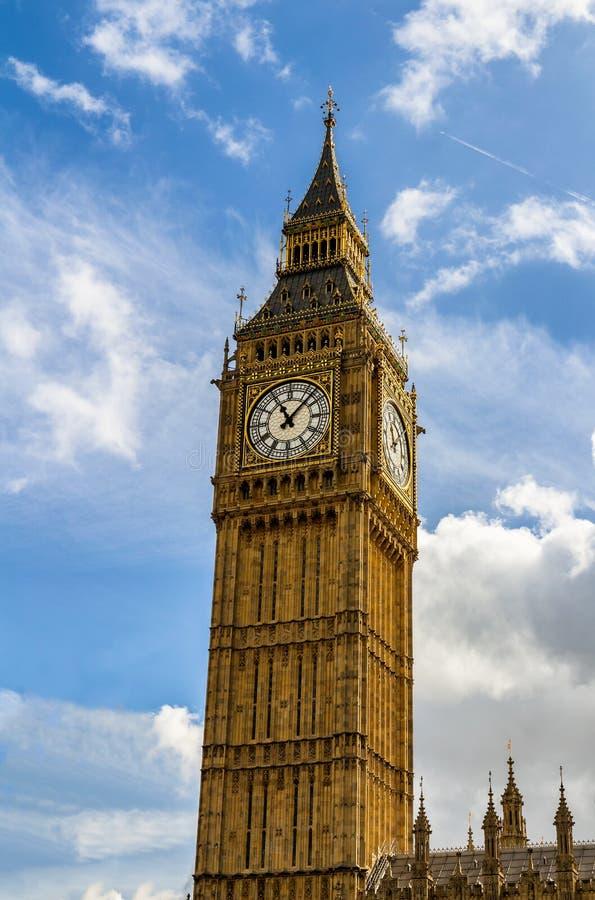 Big Ben, London, UK. A view of the popular London landmark, the. Clock tower known as Big Ben stock photo