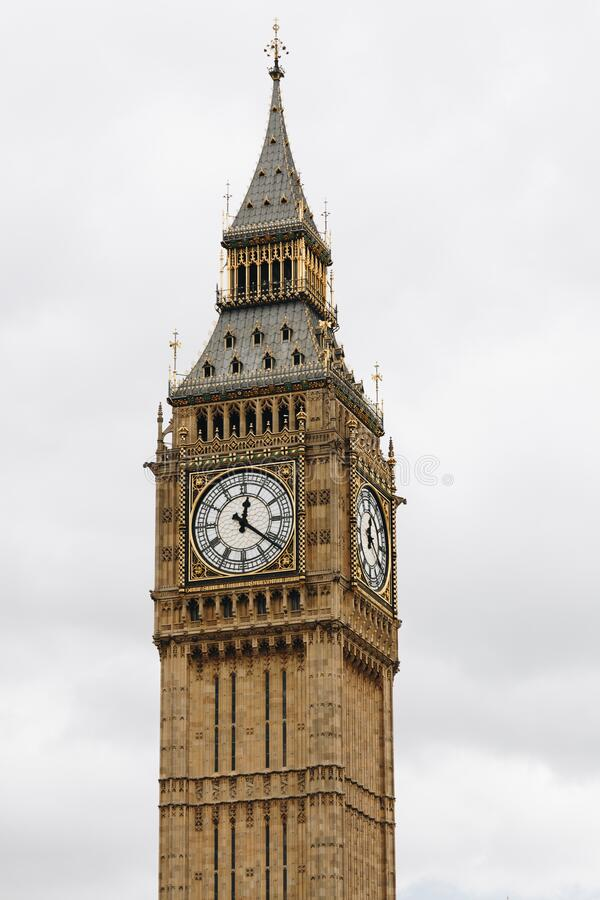Big Ben, London, UK. A view of the popular London landmark, the clock tower known as Big Ben.  royalty free stock photo