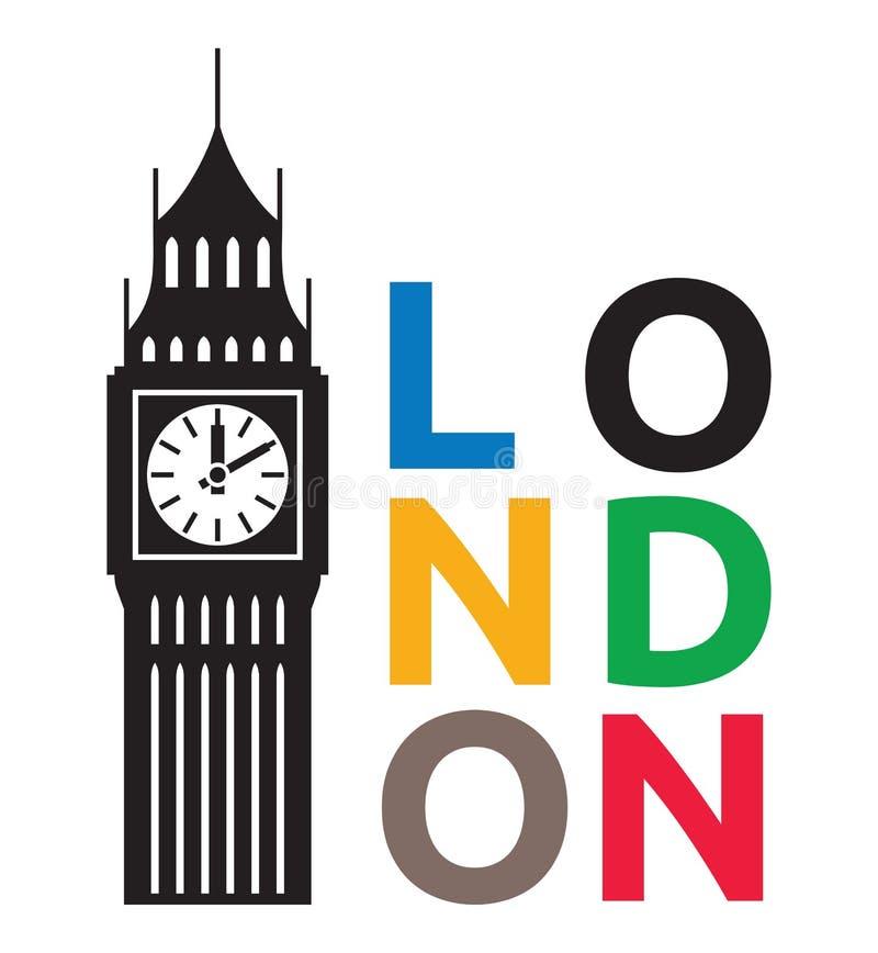 Big Ben London. Vector illustration of the Big Ben London vector illustration