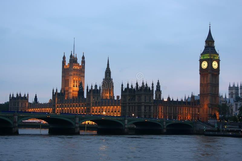 Big Ben nachts stockfoto