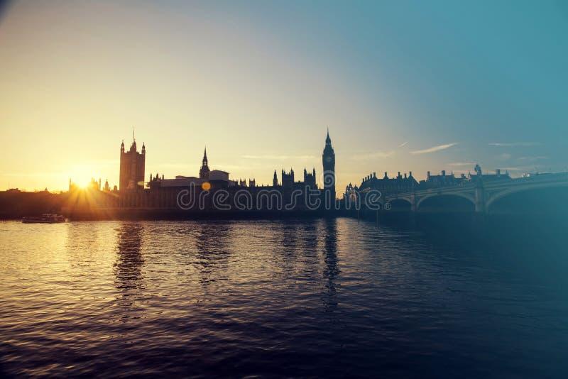 Big Ben nel tramonto immagine stock
