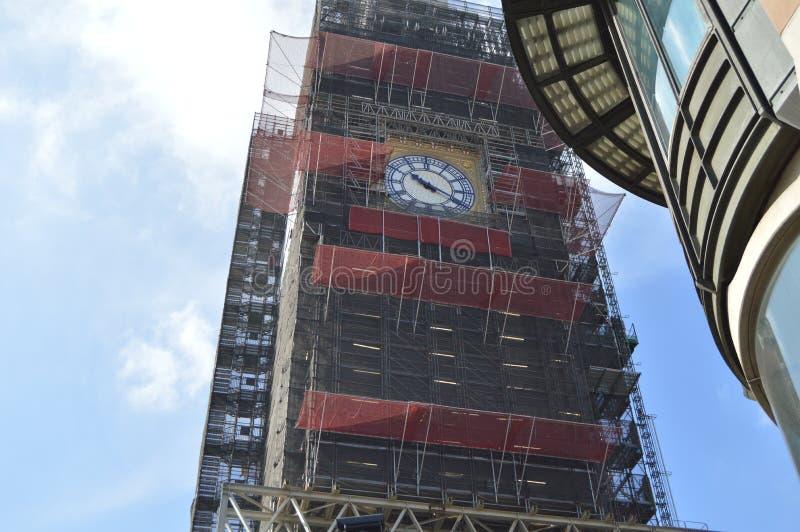 Big Ben nella costruzione nel 2019 fotografie stock libere da diritti
