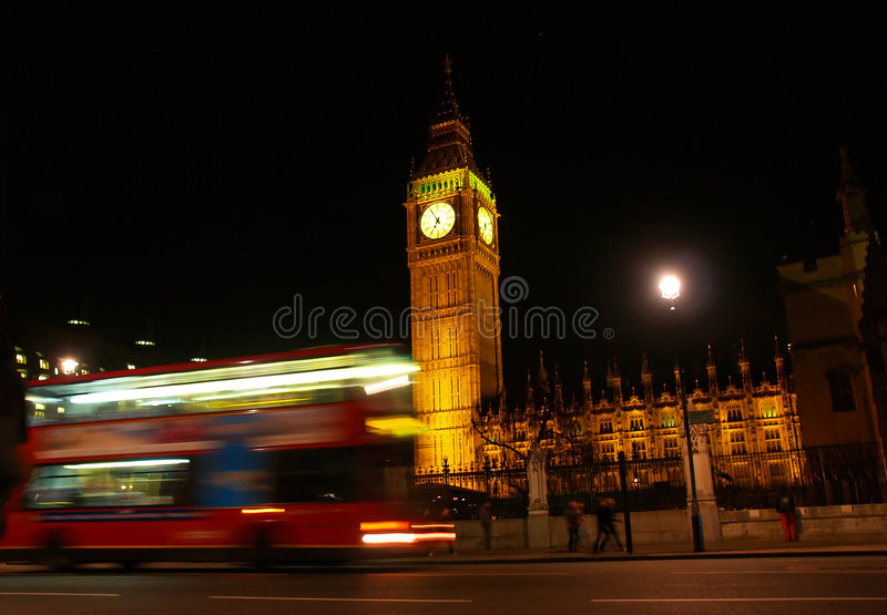 Big Ben at night royalty free stock image