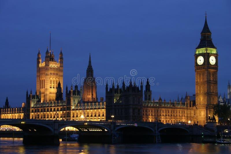 Big Ben at night. Big Ben in London at night royalty free stock images