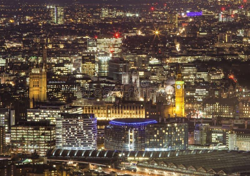 Big Ben och gamla centrala London arkivfoto