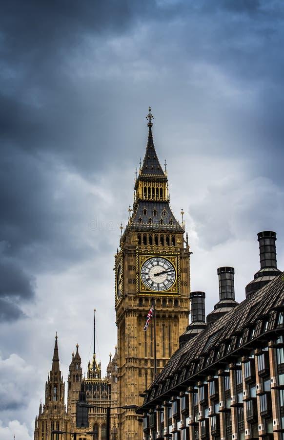 Big Ben och parlament, London, England arkivbild