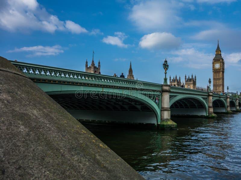 Big Ben, opactwo abbey i Thames rzeka, zdjęcie royalty free