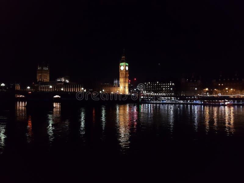 Big Ben på natten/London fotografering för bildbyråer