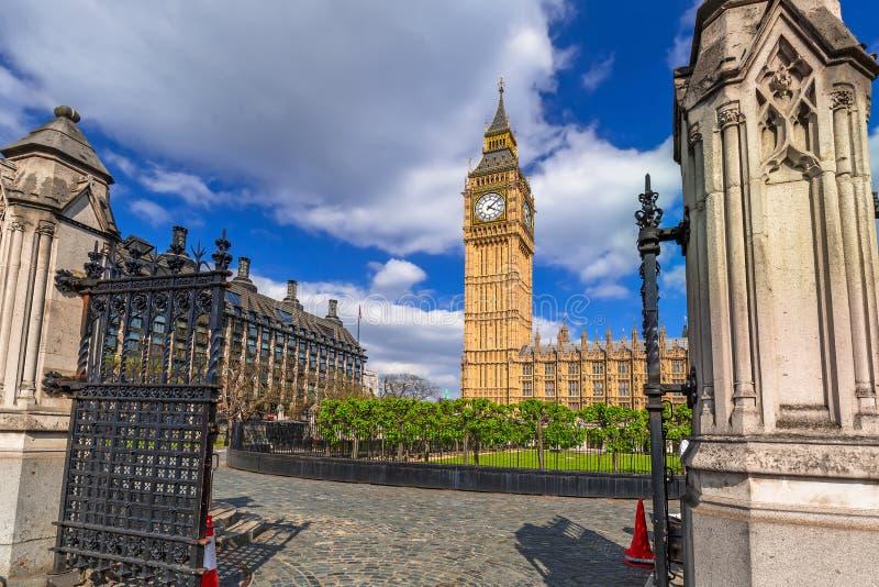 Big Ben and the Palace of Westminster. Landmark of London, UK royalty free stock photos