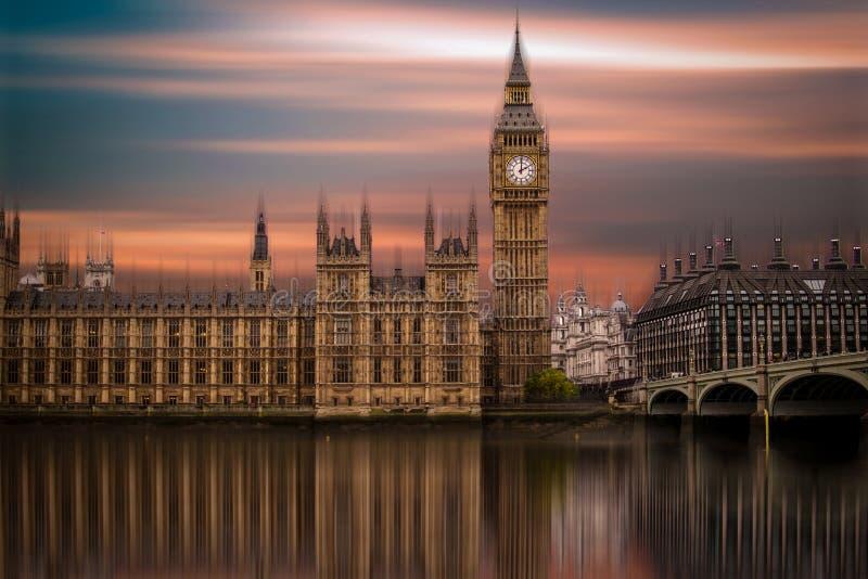 Big Ben, Paleis van Westminster (Huizen van het Parlement) stock fotografie