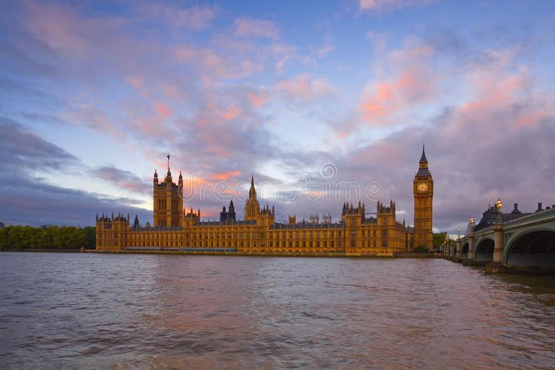 Big Ben, Parlaments-Geb?ude, London, Gro?britannien lizenzfreie stockfotos
