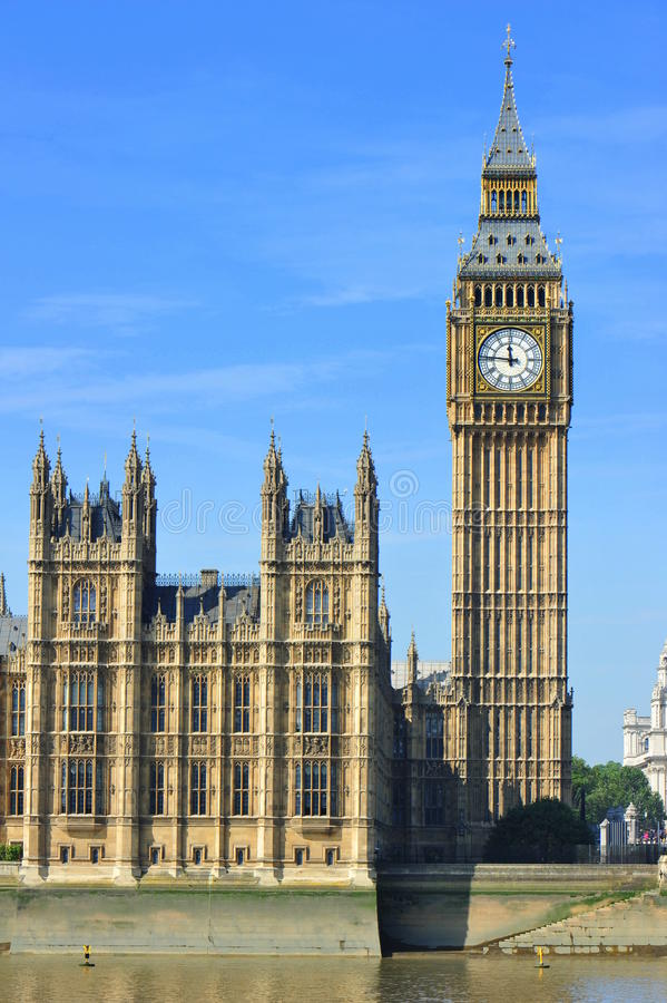 Big Ben & Parliament House - London, UK Royalty Free Stock Images
