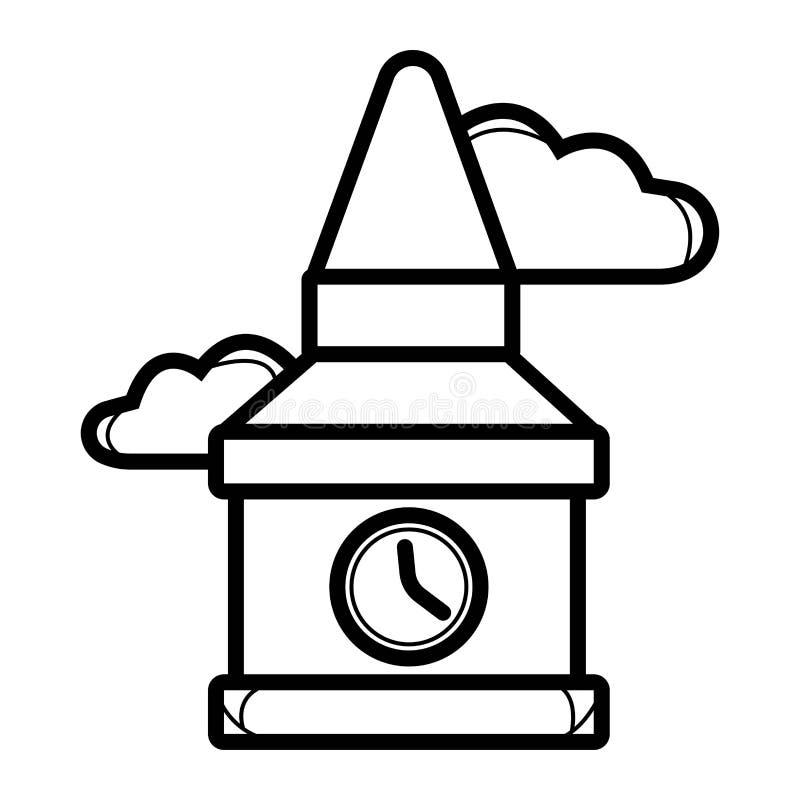 Big Ben-pictogramvector royalty-vrije illustratie