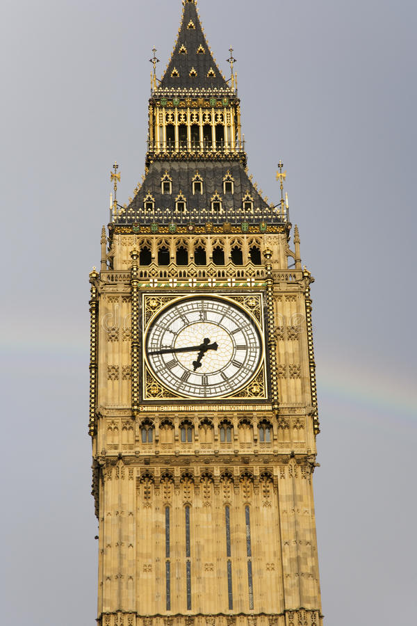Download Big Ben With Rainbow Royalty Free Stock Images - Image: 21057179