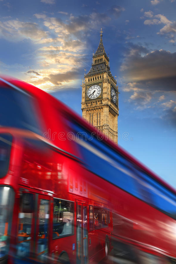 Download Big Ben With Red Bus In London, UK Royalty Free Stock Photography - Image: 22006227
