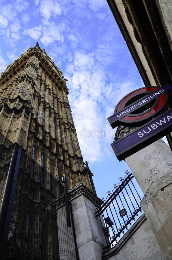 Big Ben from the Subway royalty free stock image