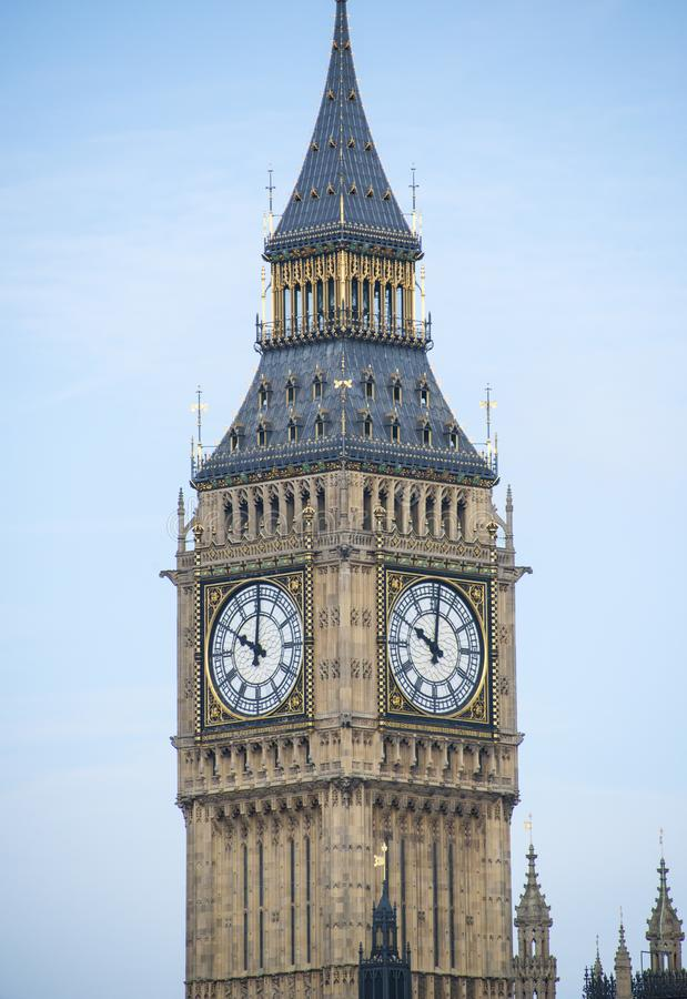 Big Ben in the sun. Big Ben on a sunny summers day royalty free stock photos