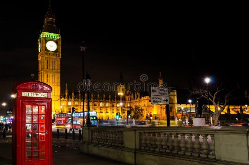 Big Ben And Telephone Cab Stock Photos
