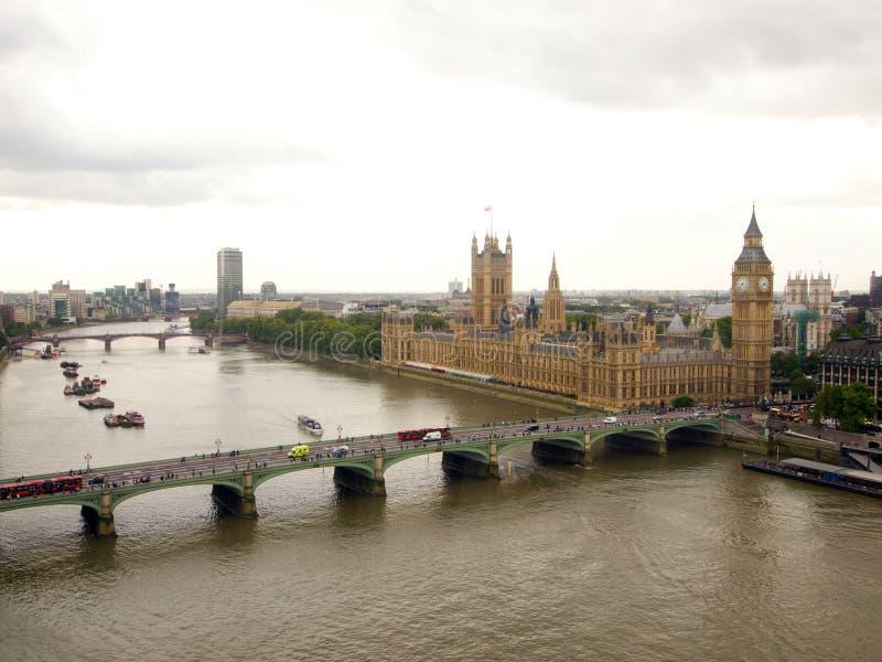 Big Ben And Thames River Stock Photo