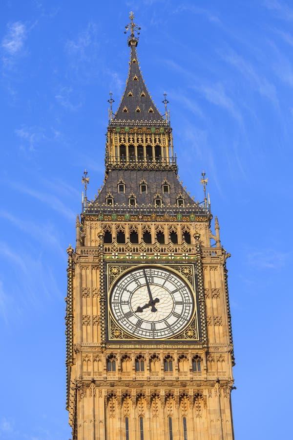 Big Ben, torre de reloj del palacio de Westminster, Londres, Reino Unido fotografía de archivo
