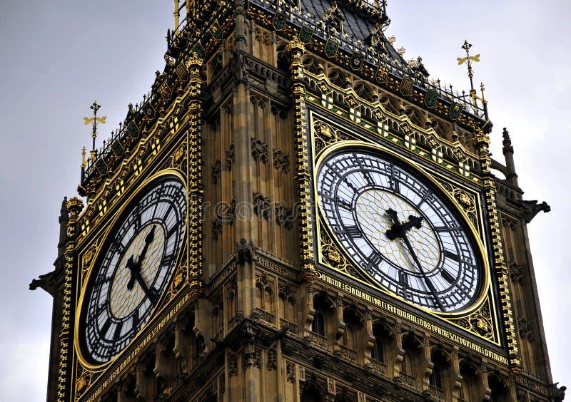 Big Ben - tower clock. Tower Clock - Big Ben of London stock photo