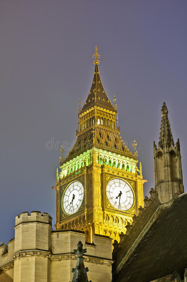 Download Big Ben Tower Clock At London, England Stock Photo - Image: 22505236