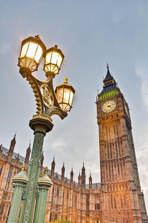 Big Ben Tower Clock At London, England Royalty Free Stock Photos