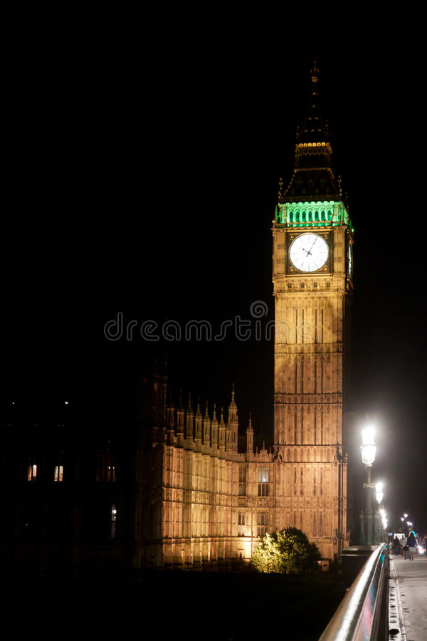 Download Big Ben Tower by night stock photo. Image of parliament - 22975638