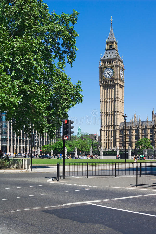 Big Ben Tower In Westminster, London, UK Royalty Free Stock Image