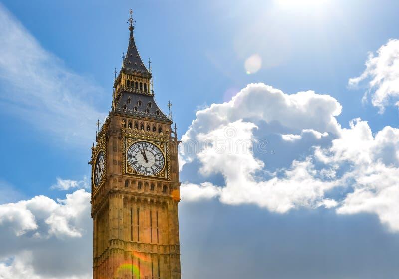 Big Ben tower of Westminster palace, London, UK stock photos