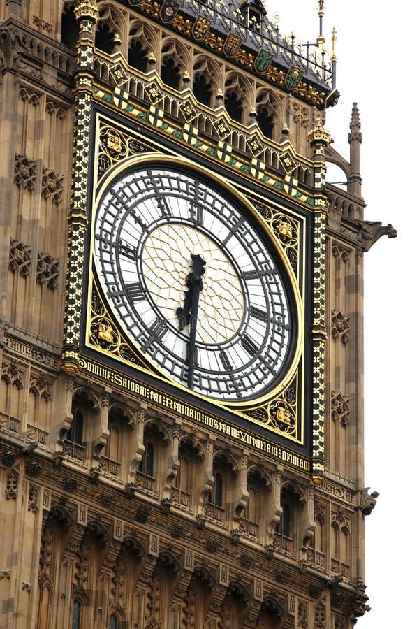 Big Ben trennte auf Weiß lizenzfreie stockfotografie