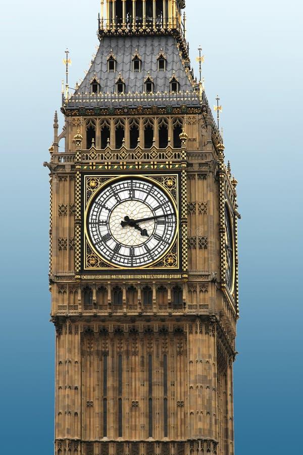 Big Ben-Uhrabschluß oben lizenzfreies stockbild