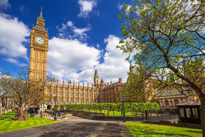 Big Ben und der Palast von Westminster lizenzfreies stockfoto