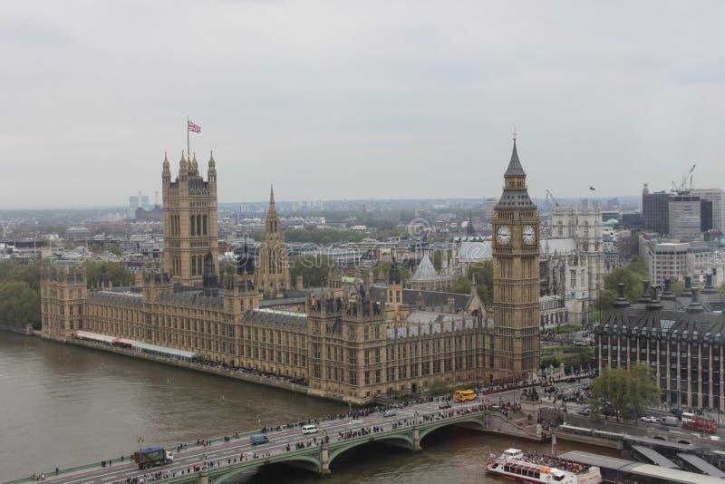 Big Ben und der Palast von Westminster London England lizenzfreies stockbild