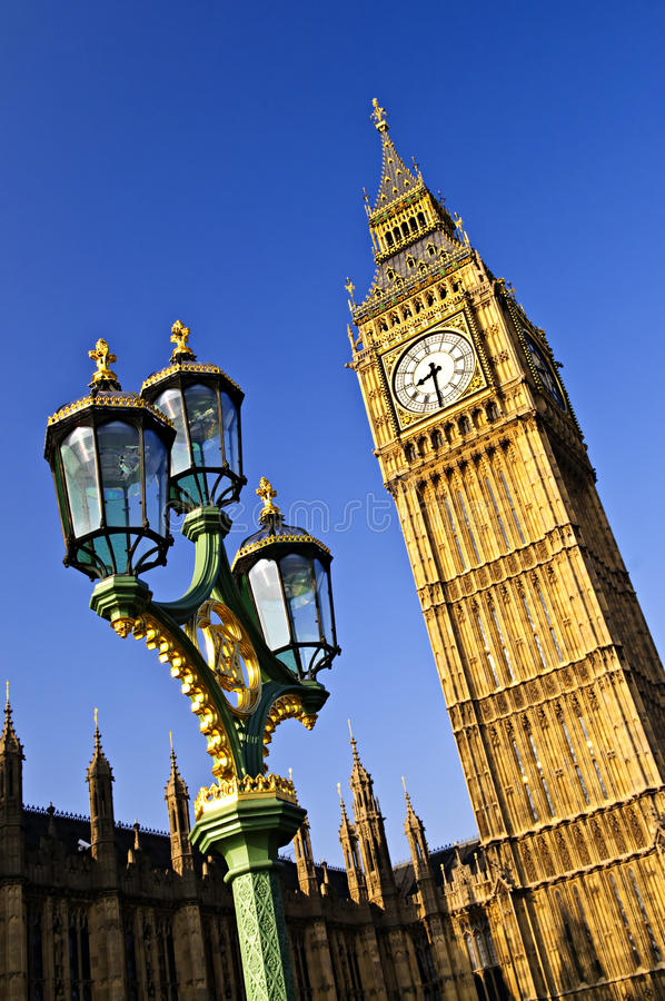Big Ben und Palast von Westminster stockbild
