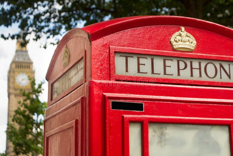 Big Ben und Telefon lizenzfreies stockfoto