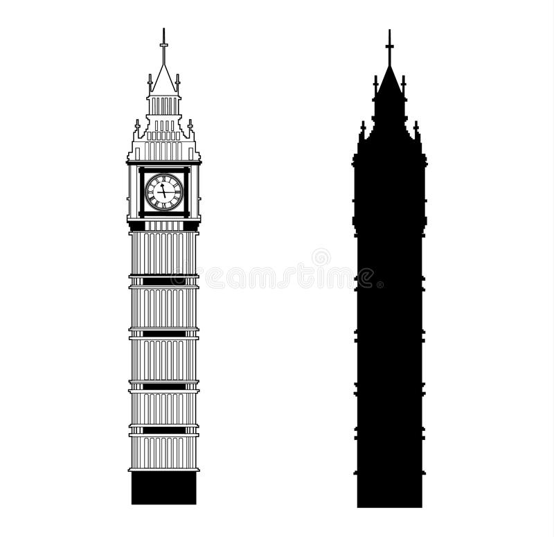 big ben vector stock vector illustration of building 89784579 rh dreamstime com big ben vector eps big ben vector free