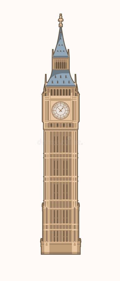 Big Ben. Vector Illustration of the Big Ben (Elizabeth Tower) in London vector illustration