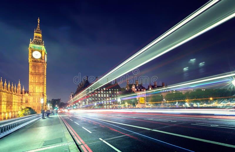Big Ben von Westminster-Brücke, London lizenzfreies stockfoto