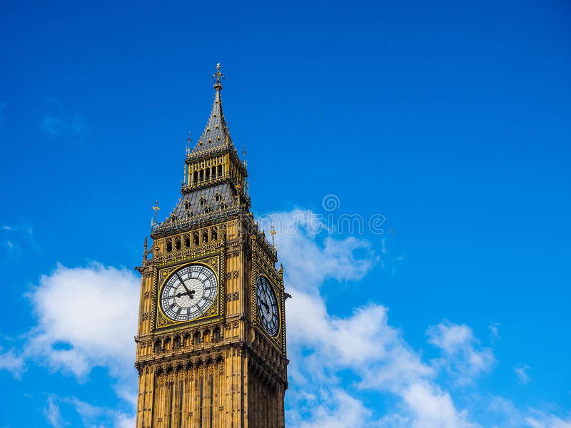 Big Ben w Londyn (hdr) fotografia stock