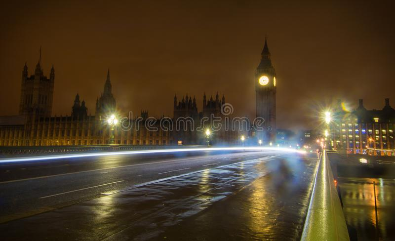 Big Ben w nocy obraz royalty free