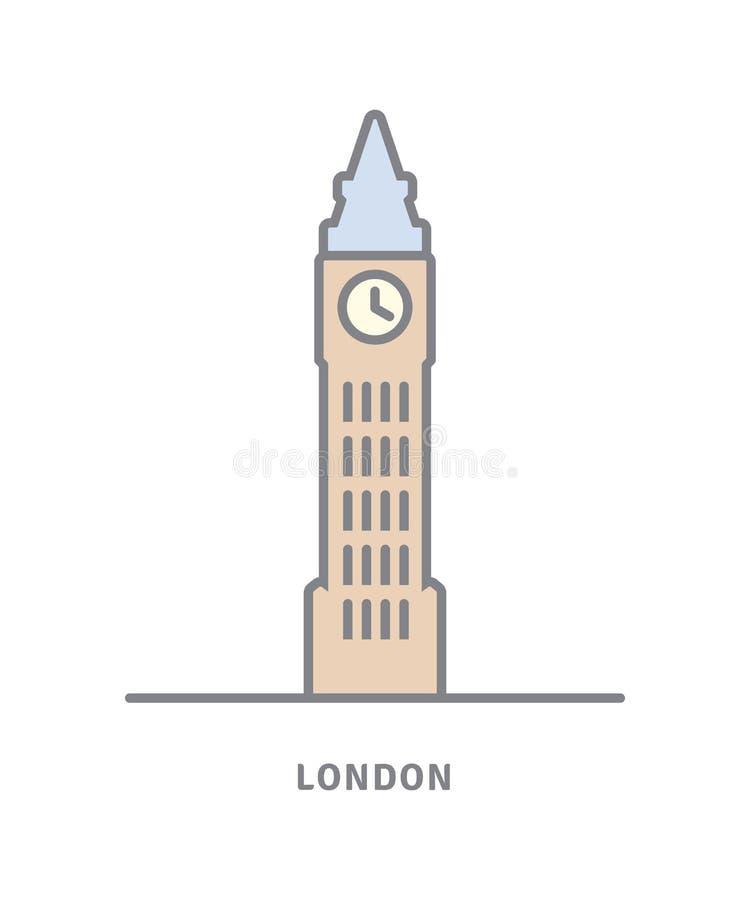 Big Ben wektoru ikona royalty ilustracja